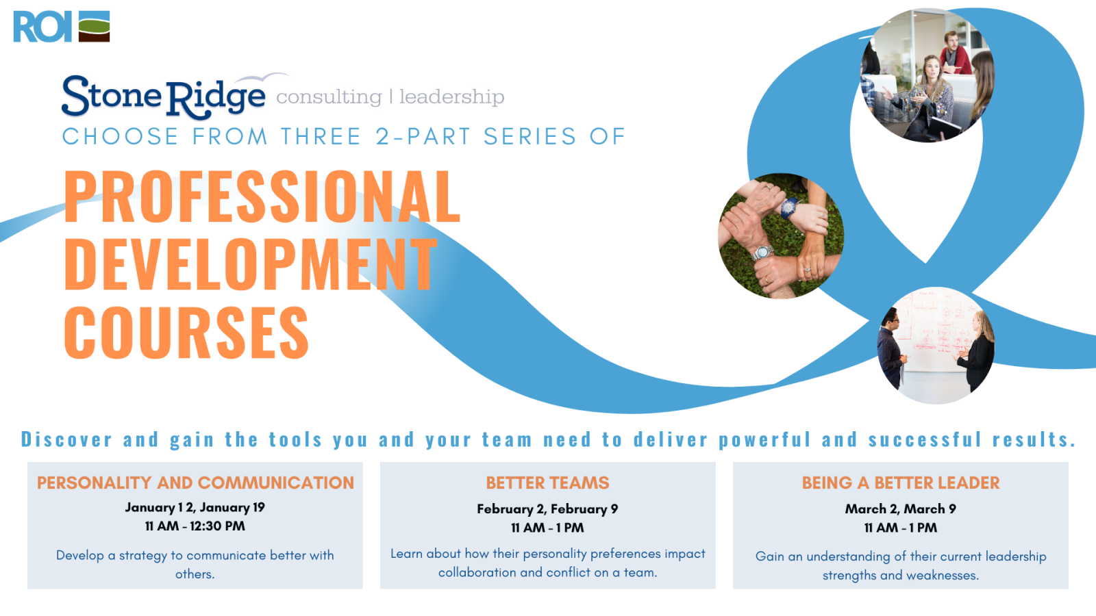 Introducing our new 3-part professional development training series coming January 2021